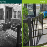Brooklyn entry garden before and after