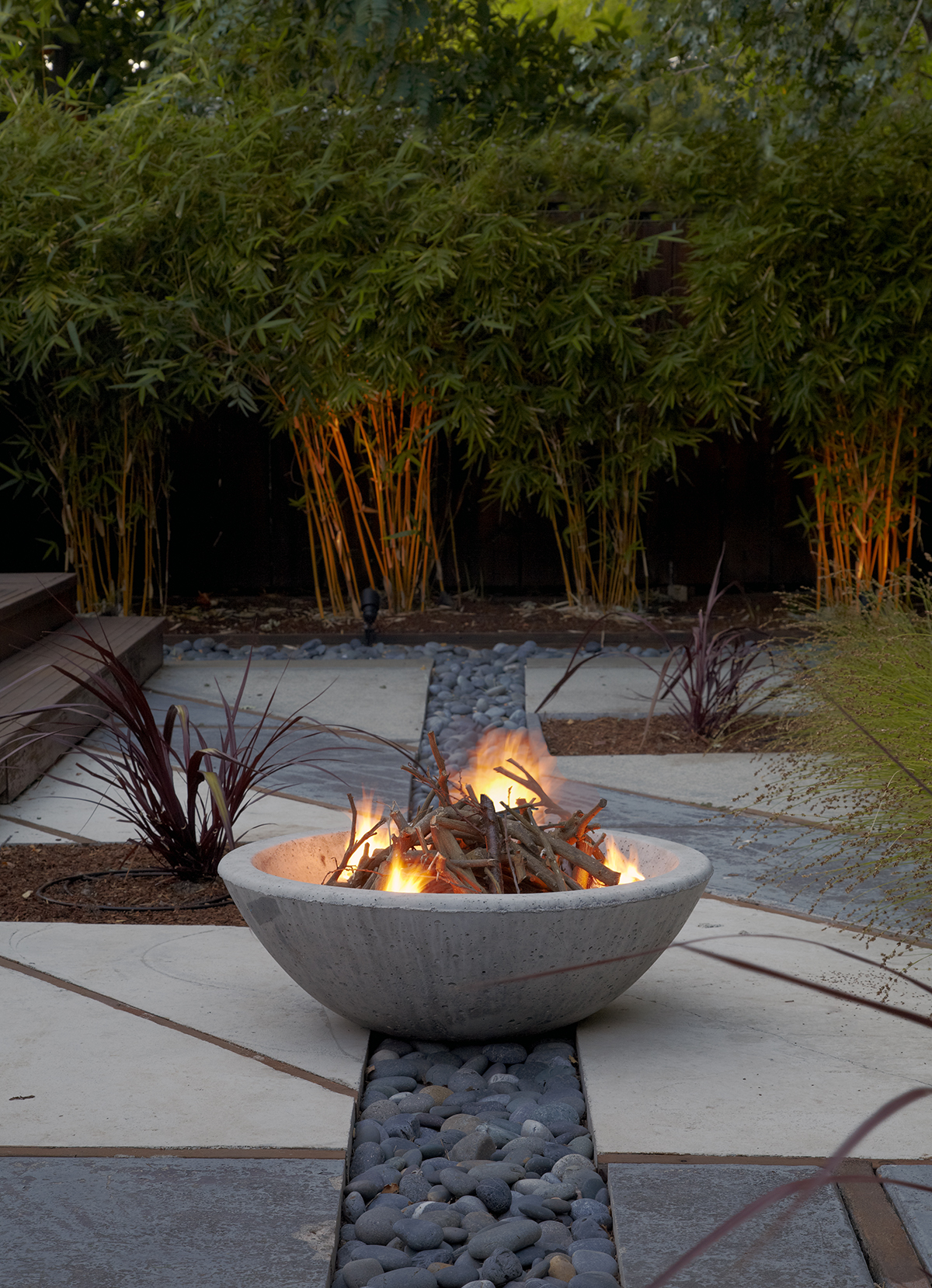 Landscape Inspiration: A Stylish Fire Garden