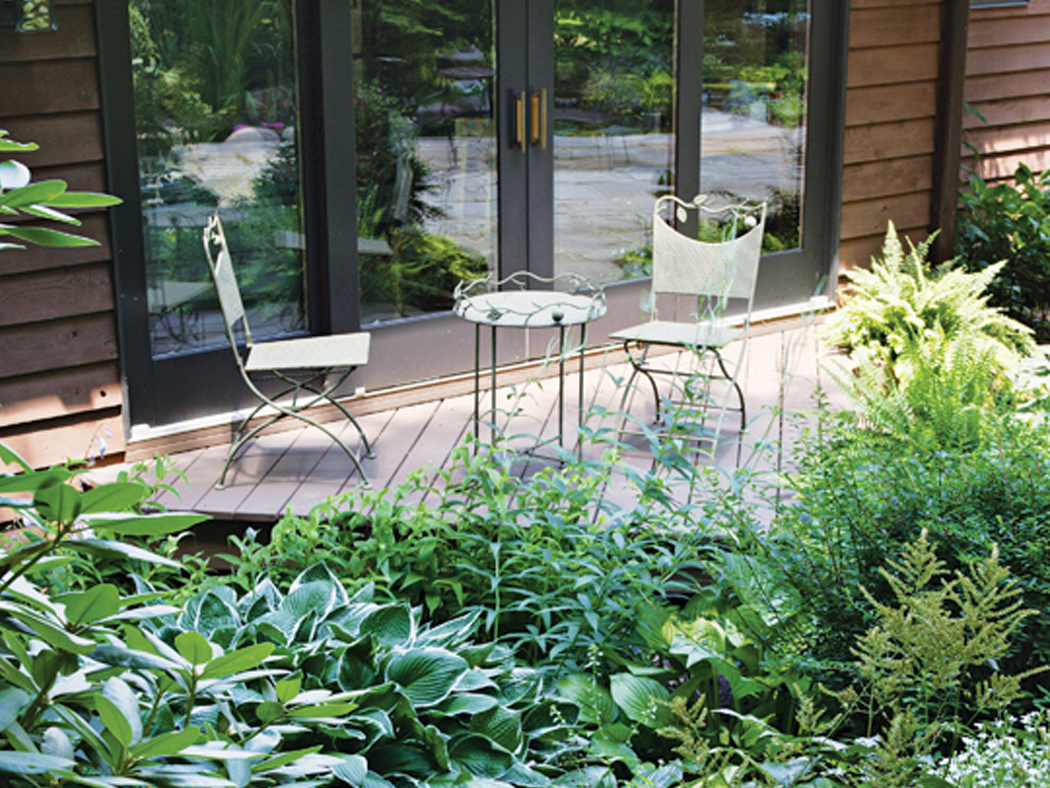 Residential Landscape Design: A Deck Immersed in Greenery