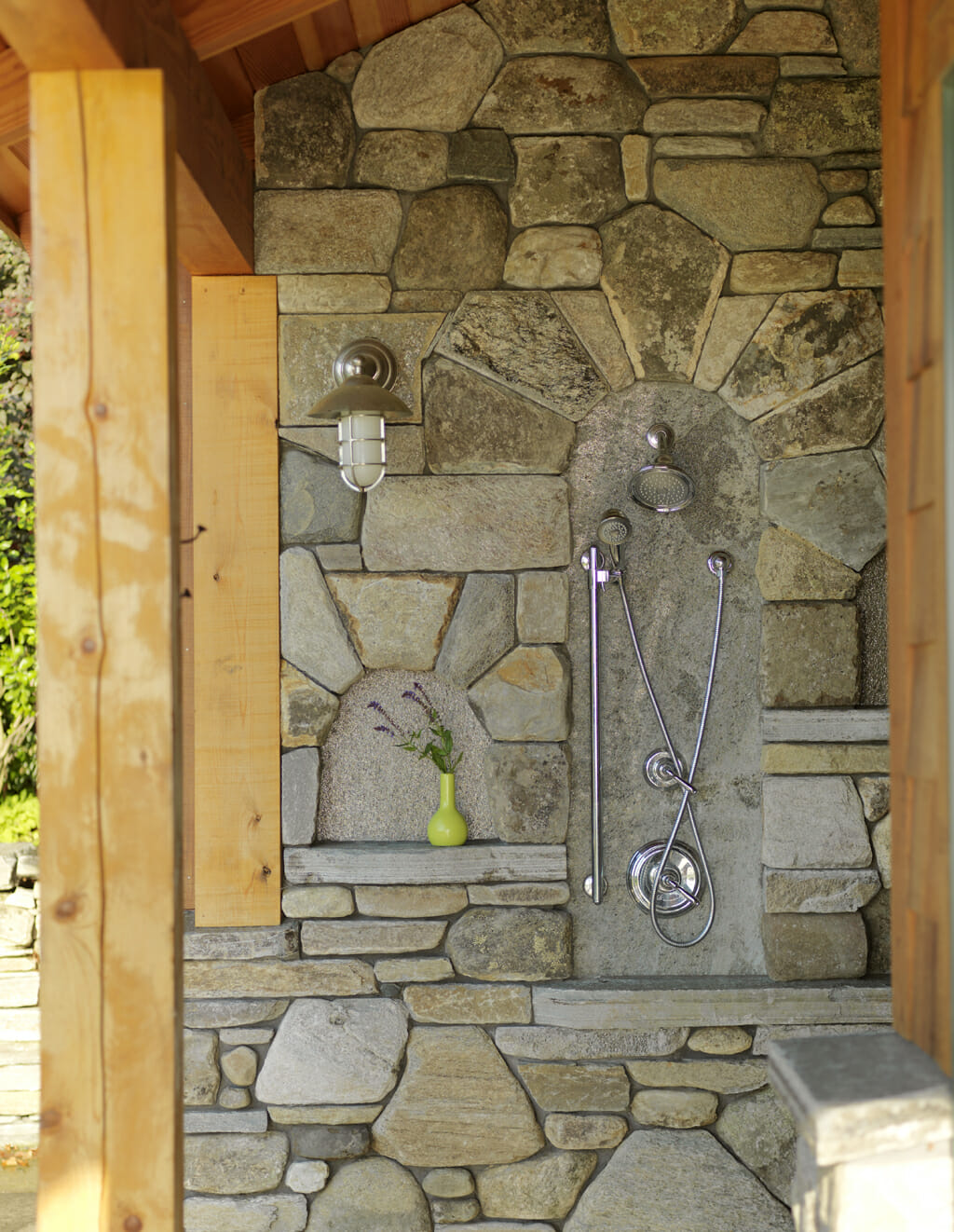 Don't Track That Dirt Inside! Outdoor Shower Inspiration