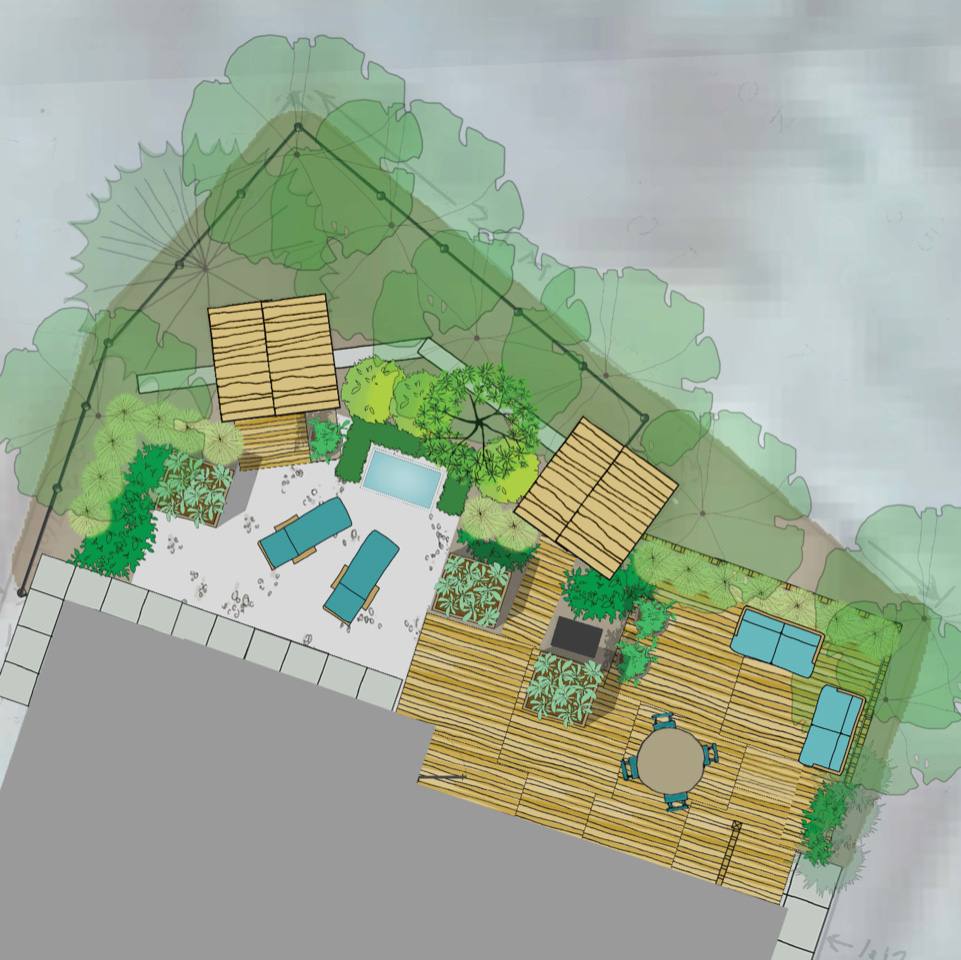Landscape Design for an In-Town Backyard